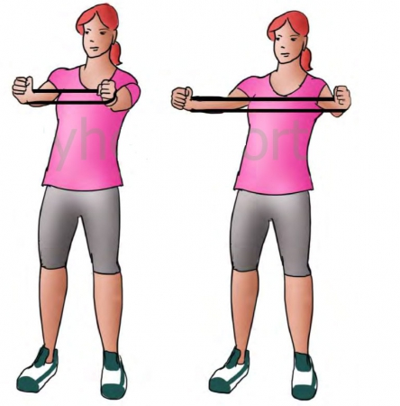 تمرین با کش ورزشی در خانه